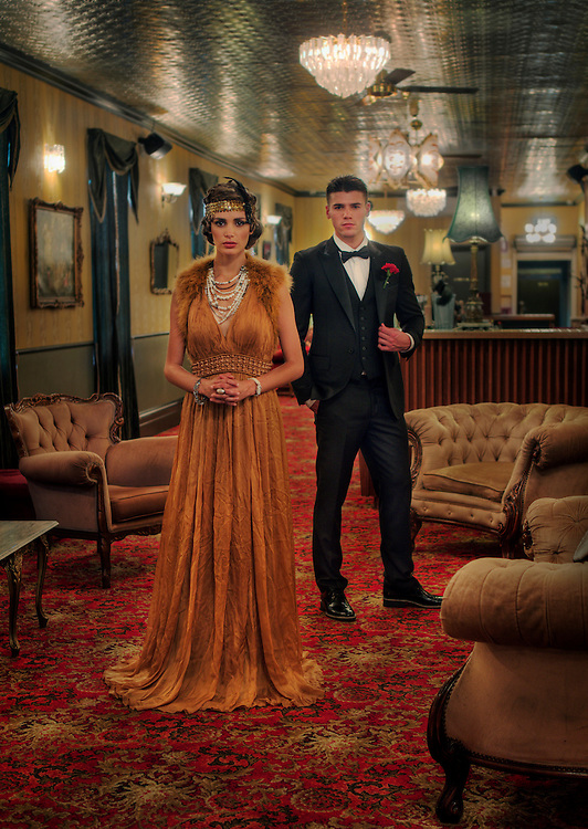 Models Jake and Olivia from Giant Management, modelling 1920s.Fashion at the Back Bar in Windsor. Pic By Craig Sillitoe 11/3/2011 melbourne photographers, commercial photographers, industrial photographers, corporate photographer, architectural photographers, This photograph can be used for non commercial uses with attribution. Credit: Craig Sillitoe Photography / http://www.csillitoe.com<br />