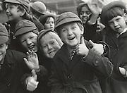 English schoolchildren posing for the camera