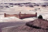 One of the Ruwallah fortresses used by Nuri ibn Shaalan, prominent Shaikh of the Ruwallah tribe, to protect the area they dominated in the north around the turn of the century.