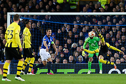 Gonzalo Zarate of BSC Young Boys shoots with a scissor kick - Photo mandatory by-line: Matt McNulty/JMP - Mobile: 07966 386802 - 26/02/2015 - SPORT - Football - Liverpool - Goodison Park - Everton v Young Boys - UEFA EUROPA LEAGUE ROUND OF 32 SECOND LEG
