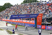 BMX Finals, Laura Smulders (Netherlands), Tetsche Simone Christensen (Denmark), Yaroslava Bordarenko (Russian Federation) during the Cycling European Championships Glasgow 2018, at Glasgow BMX Centre, in Glasgow, Great Britain, Day 9, on August 10, 2018 - Photo luca Bettini / BettiniPhoto / ProSportsImages / DPPI<br /> - Restriction / Netherlands out, Belgium out, Spain out, Italy out -