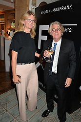 FRANK COHEN and KATE HOBHOUSE chairman of Fortnum & Mason at a the Fortnum's X Frank private view - an instore exhibition of over 60 works from Frank Cohen's collection at Fortnum & Mason, 181 Piccadilly, London on 12th September 2016.