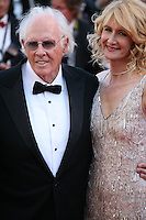 Actor Bruce Dern and actress Laura Dern.at the 'Nebraska' film gala screening at the Cannes Film Festival Thursday 23rd May 2013