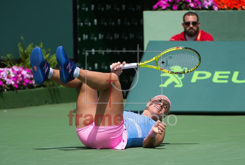 *BRAZIL ONLY* ATENÇÃO EDITOR, FOTO EMBARGADA PARA VEÍCULOS INTERNACIONAIS * A tenista russa Svetlana Kuznetsova durante etapa do Miami Open de tênis, em Miami, Estados Unidos, nesta quinta-feira (31). Foto: DPPI/FramePhoto