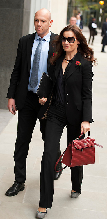 Boris Berezovsky girlfriend Yelena Gorbunova arrives at The Royal Courts of Justice ahead of  Roman Abramovich  giving his evidence  in Central London, on October 31, 2011. Chelsea Football Club owner Roman Abramovich was accused in a British court Monday of intimidating fellow Russian tycoon Boris Berezovsky into selling him oil company shares at a large discount. Berezovsky, who lives in exile in Britain, accuses Abramovich of breach of trust and breach of contract over the sale of shares in Russian oil company Sibneft.