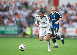 SWANSEA, WALES - Sunday, October 2, 2011: Swansea City's Danny Graham in action against Stoke City during the Premiership match at the Liberty Stadium. (Pic by David Rawcliffe/Propaganda)