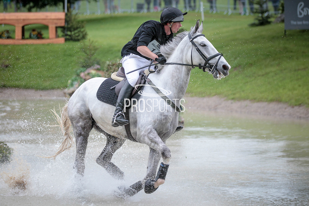 ALFIES CLOVER ridden by Richard P Jones taking part in the Equitrek CCI*** cross country on day three of the Bramham International Horse Trials 2017 at  at Bramham Park, Bramham, United Kingdom on 11 June 2017. Photo by Mark P Doherty.