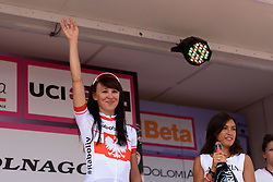 Best young rider, Kasia Niewiadoma (Rabo Liv) at Giro Rosa 2016 - Stage 3. A 120 km road race from Montagnana to Lendinara, Italy on July 4th 2016.