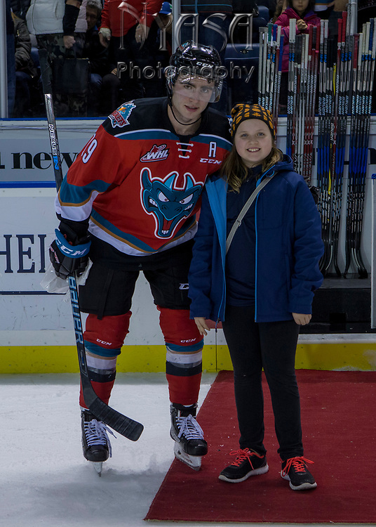 KELOWNA, CANADA - OCTOBER 27:  First Star of the Game Dillon Dube #19 of the Kelowna Rockets at the Kelowna Rockets game on October 27, 2017 at Prospera Place in Kelowna, British Columbia, Canada.  (Photo By Cindy Rogers/Nyasa Photography,  *** Local Caption ***