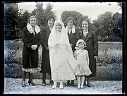 vintage holy communion women only family group portrait France, circa 1930s