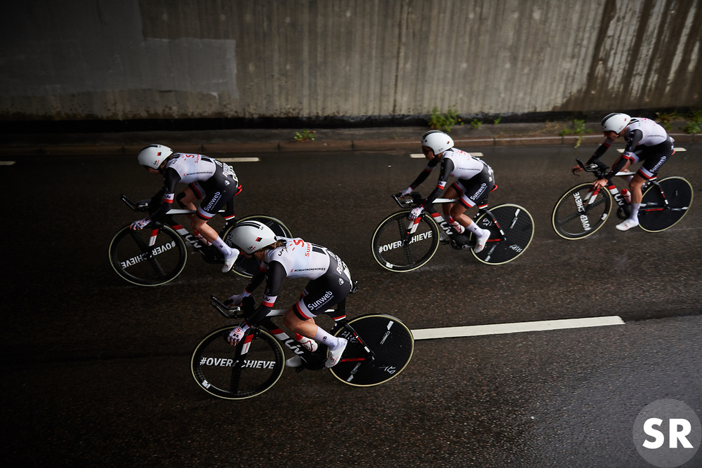 Team Sunweb at Postnord Vårgårda West Sweden Team Time Trial 2018, a 42.5 km team time trial in Vårgårda, Sweden on August 11, 2018. Photo by Sean Robinson/velofocus.com