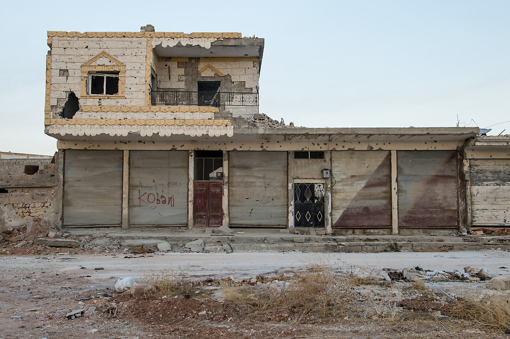 An abandoned house in Kobanê which was damaged due to the fighting against ISIS. Kobanê (Ayn al-Arab), Syria, June 21, 2015, 2015