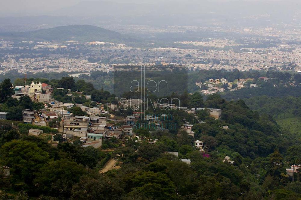 A view of Guatemala City, Guatemala.