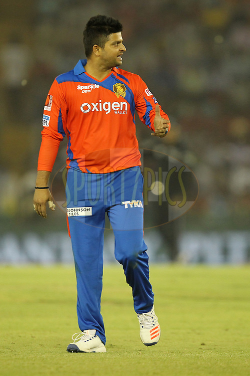 Suresh Raina captain of Gujrat Lions reacts during match 3 of the Vivo Indian Premier League ( IPL ) 2016 between the Kings XI Punjab and the Gujarat Lions held at the IS Bindra Stadium, Mohali, India on the 11th April 2016Photo by Prashant Bhoot/ IPL/ SPORTZPICS