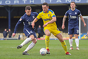 AFC Wimbledon midfielder Anthony Hartigan (8) dribbling during the EFL Sky Bet League 1 match between Southend United and AFC Wimbledon at Roots Hall, Southend, England on 16 March 2019.