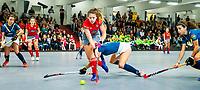 HAMBURG  (Ger) - Match 19,  for bronze , Der Club an der Alster (Ger) - Club Campo de Madrid (Esp) (7-0)  Photo: Anne Schröder (Alster)    Eurohockey Indoor  Club Cup 2019 Women . WORLDSPORTPICS COPYRIGHT  KOEN SUYK