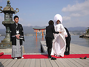 Japan, Miyajima, Itsukushima Temple, Traditional Wedding