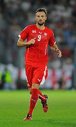 Switzerland's Haris Seferovic - Photo mandatory by-line: Joe Meredith/JMP - Mobile: 07966 386802 - 08/09/14 - SPORT - FOOTBALL - Switzerland - Basel - St Jacob Park - Switzerland v England - Uefa Euro 2016 Group E Qualifier