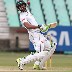 Imraan Khan of Hollywoodbets Dolphins during the Sunfoil Series match between Hollywoodbets Dolphins and the VKB Knights Day 4 at the Sahara Stadium Kingsmead, Durban, South Africa.30 October 2016 - (Photo by Steve Haag)