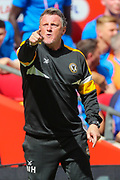 Newport County assistant manager, Wayne Hatswell during the EFL Sky Bet League 2 Play Off Final match between Newport County and Tranmere Rovers at Wembley Stadium, London, England on 25 May 2019.