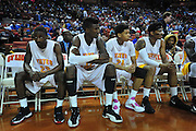 ACTION during the UIL Conference 3A semifinals at the Frank Erwin Center in Austin on Thursday, March 7, 2013. (Cooper Neill/The Dallas Morning News)