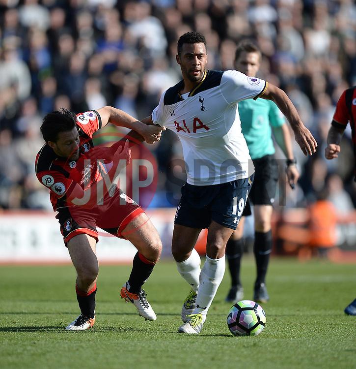 Mousa Dembele of Tottenham Hotspur battles for the ball with Harry Arter of Bournemouth - Mandatory by-line: Alex James/JMP - 22/10/2016 - FOOTBALL - Vitality Stadium - Bournemouth, England - AFC Bournemouth v Tottenham Hotspur - Premier League