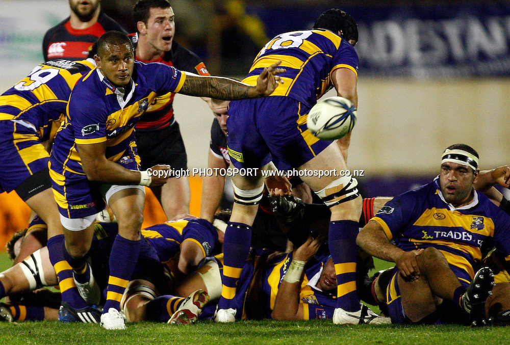 Bay halfback Junior Poluleuligaga in action, Air NZ Cup, NPC rugby union. Bay of Plenty v Canterbury. Bay Park Stadium, Mt Maunganui. 5 September 2009. Photo: William Booth/PHOTOSPORT