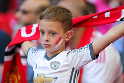 Young Manchester United fan - Rogan Thomson/JMP - 07/08/2016 - FOOTBALL - Wembley Stadium - London, England - Leicester City v Manchester United - The FA Community Shield.