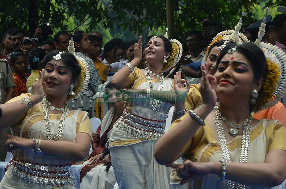 July 3, 2017 - Kolkata, West Bengal, India - Devotees participate Ulto Rath in Kolkata. West Bengal Chief Minister Mamata Banerjee with ample of devotees has been seen pulling the chariot of lord Jagannath, of Iskon on the auspicious day of Ulto Rath. (Credit Image: © Sandip Saha/Pacific Press via ZUMA Wire)