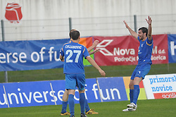 Matija Skarabot celebrate at football match of 35th Round of 1st Slovenian League between NK Hit Gorica and NK Nafta, on May 11, 2010, in Sportni park, Nova Gorica, Slovenia. (Photo by foto-forma/ Sportida)