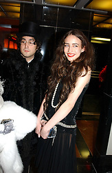 Left to right, ELIZABETH JAGGER and SEAN LENNON at Andy & Patti Wong's Chinese New Year party to celebrate the year of the Rooster held at the Great Eastern Hotel, Liverpool Street, London on 29th January 2005.  Guests were invited to dress in 1920's Shanghai fashion.<br />