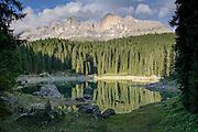 Karersee (Lago di Carezza), Dolomites, Italy