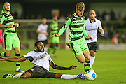 Forest Green Rovers Elliott Frear (11) skips a challenge from Eastleigh's Réda Johnson(27) during the Vanarama National League match between Forest Green Rovers and Eastleigh at the New Lawn, Forest Green, United Kingdom on 13 September 2016. Photo by Shane Healey.