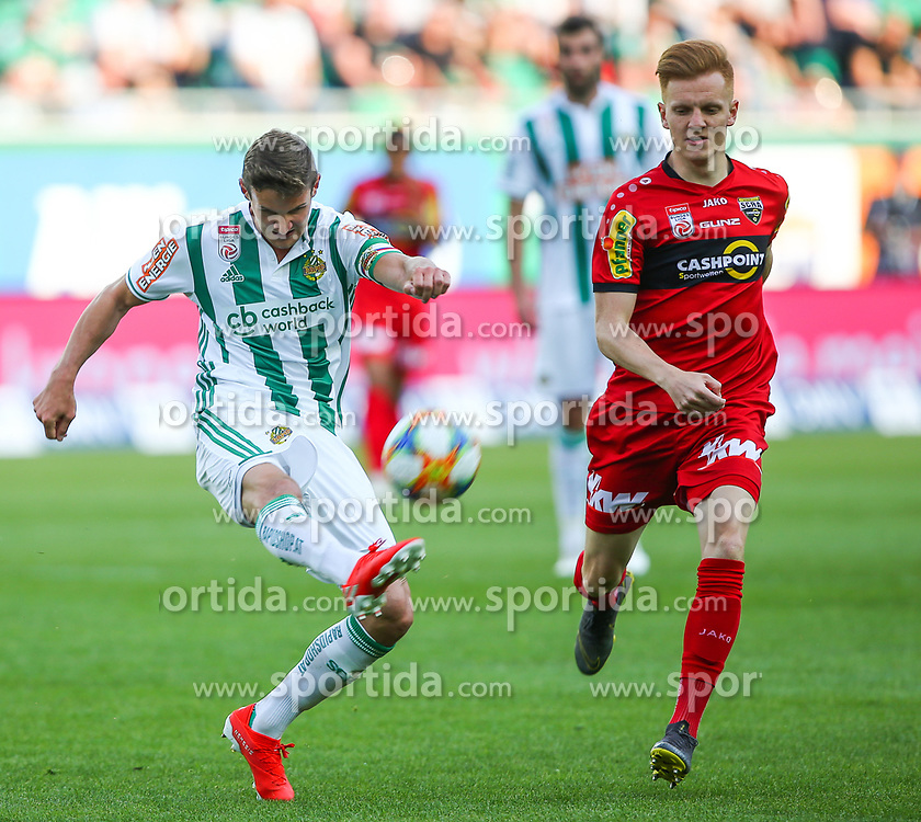 25.05.2019, Allianz Stadion, Wien, AUT, 1. FBL, SK Rapid Wien vs Cashpoint SCR Altach, Qualifikationsgruppe, 32. Spieltag, im Bild v.l. Maximilian Hofmann (SK Rapid Wien) und Christian Gebauer (Cashpoint SCR Altach) // during the tipico Bundesliga qualification group 32nd round match between SK Rapid Wien and Cashpoint SCR Altach at the Allianz Stadion in Wien, Austria on 2019/05/25. EXPA Pictures © 2019, PhotoCredit: EXPA/ Thomas Haumer