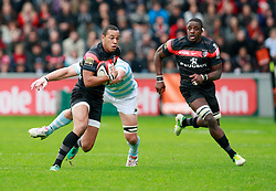 Gael Fickou in action for Stade Toulousain v Racing Metro. Top 14, Stade Ernest Wallon, Toulouse, France, 1st November 2012.