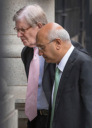 © Licensed to London News Pictures. 06/09/2016. London, UK. Keith Vaz MP (R) is seen talking with Conservative MP Sir Bill Cash in Parliament after resigning as Chairman of the influential Home Affairs Select Committee . A Sunday newspaper has printed allegations that Mr Vaz met with male prostitutes at his flat. Photo credit: Peter Macdiarmid/LNP