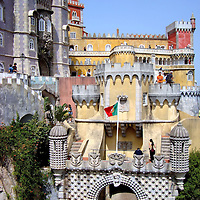 Pena National Palace&rsquo;s Features in Sintra, Portugal <br />