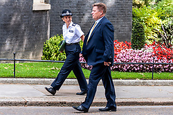 Cressida Dick,  Metropolitan Police Commissioner arrives at Downing Street.<br /> <br /> Coming after Boris Johnson announced that he is determined to tackle rising levels of knife crime by extending the police stop-and-search powers.<br /> <br /> Richard Hancox   EEm 12082019