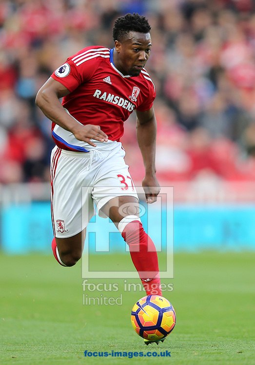 Adama Traore of Middlesbrough during the Premier League match at the Riverside Stadium, Middlesbrough<br /> Picture by Simon Moore/Focus Images Ltd 07807 671782<br /> 29/10/2016