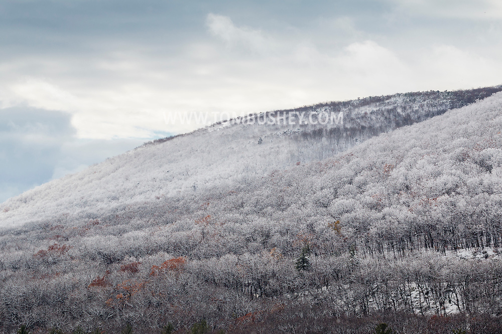 Cornwall, New York - A view of Schunnemunk Mountain after a snowstorm on Nov. 20, 2016.