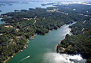20091003  -  Buford, Ga :  Aerial photos of Lake Lanier in the Chattahoochee River basin show the lake almost at full pool in these Lake Lanier aerials when the level was nearly at 1069.2 feet on Saturday, Oct. 3, 2009. The lake, source of Atlanta's drinking water and the center of a water war between the three states of Georgia, Alabama and Florida, rose rapidly after a week of drenching rain that caused floods father downstream in the Chattahoochee River Basin.      David Tulis         dtulis@gmail.com    ©David Tulis 2009