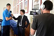 Conferenza stampa per la presentazione del campionato Under 20 che si terr&agrave; a Lignano Sabbiadoro<br /> Nella foto: Simone Fontecchio<br /> Agenzia Ciamillo/Castoria