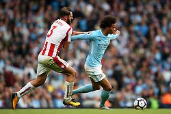 Kevin De Bruyne of Manchester City takes on Erik Pieters of Stoke City - Mandatory by-line: Matt McNulty/JMP - 14/10/2017 - FOOTBALL - Etihad Stadium - Manchester, England - Manchester City v Stoke City - Premier League
