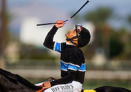 September 27 2014: Jockey, Mike Smith at Santa Anita Park in Arcadia CA. Alex Evers/ESW/CSM