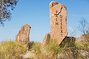 Palm Desert Flagstone City Markers