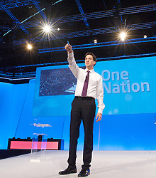 Rt Hon Ed Miliband MP during a Q & A to the Labour Party Conference in Manchester, October 3, 2012. Photo by Elliott Franks / i-Images.
