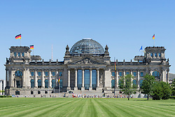 The Reichstag German parliament building in Berlin Germany