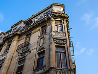 HAVANA, CUBA - CIRCA MAY 2017:  Detail of old building in the Havana area  better known as Chinatown. A popular tourist attraction in Havana.