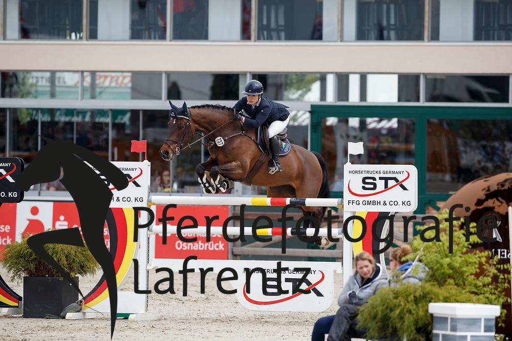 SATO Tae (JPN), Quintana de Capitol<br /> Hagen - Horses and Dreams meets the Royal Kingdom of Jordan 2018<br /> Finale Mittlere Tour<br /> 29. April 2018<br /> www.sportfotos-lafrentz.de/Stefan Lafrentz