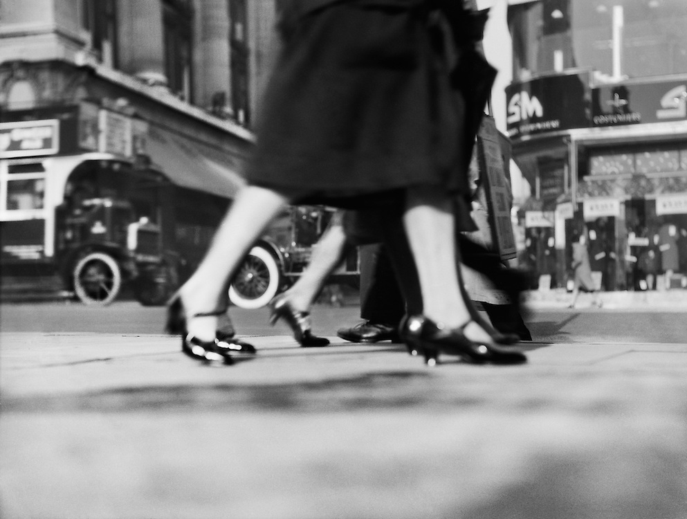 Ground View with Feet, Oxford Street, London, 1929